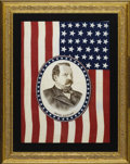 Political:Textile Display (pre-1896), Grover Cleveland: Choice Large Political Flag....