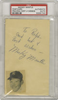 Autographs:Post Cards, 1951 Mickey Mantle Signed Government Postcard. The earliest GPC ever signed by the Mick as a Yankee? We're willing to bet ...