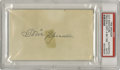 Autographs:Index Cards, 1940's Tris Speaker Signed Index Card. The superstar center fielder for the Red Sox and Indians offers a bold 10/10 black f...