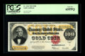 Large Size:Gold Certificates, Fr. 1215 $100 1922 Gold Certificate PCGS Gem New 65PPQ. One of the nicest $100 Gold Certificates we've had the pleasure of h...