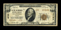 National Bank Notes:Virginia, Radford, VA - $10 1929 Ty. 2 The First & Merchants NB Ch. #6782. This discovery piece is the only known note to feature...