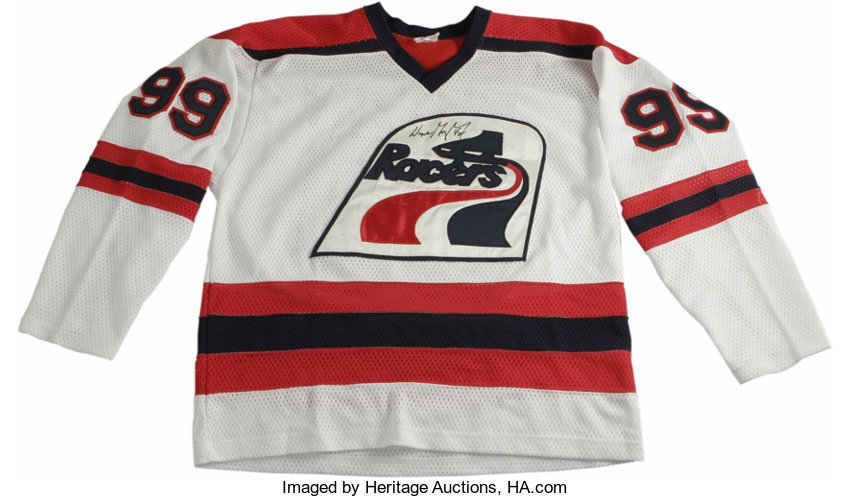 on sale ed598 86529 Wayne Gretzky Signed Indiana Racers Jersey. Making reference ...