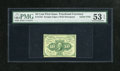 Fractional Currency:First Issue, Fr. 1242 10c First Issue PMG About Uncirculated 53 EPQ. A generallyunassuming note that is lightly circulated and well marg...