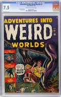 Golden Age (1938-1955):Horror, Adventures Into Weird Worlds #1 (Atlas, 1952) CGC VF- 7.5 Cream tooff-white pages....