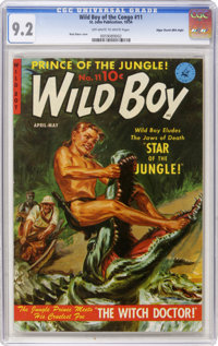 Wild Boy of the Congo #11 Mile High pedigree (Ziff-Davis, 1954) CGC NM- 9.2 Off-white to white pages. Matt Baker cover...