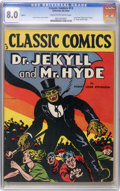Golden Age (1938-1955):Classics Illustrated, Classic Comics #13 Dr. Jekyll and Mr. Hyde HRN 15 (Gilberton, 1943) CGC VF 8.0 Cream to off-white pages....