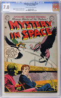 Golden Age (1938-1955):Science Fiction, Mystery in Space #7 (DC, 1952) CGC FN/VF 7.0 Cream to off-white pages....