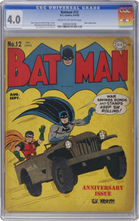 Batman #12 (DC, 1942) CGC VG 4.0 Cream to off-white pages