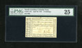 "Colonial Notes:North Carolina, North Carolina April 23, 1761 15s PMG Very Fine 25. PMG hasmentioned ""Tear Repairs"" on the back of the holder. The signatur..."