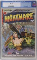 Golden Age (1938-1955):Horror, Nightmare #1 (Ziff-Davis, 1952) CGC VF- 7.5 Cream to off-whitepages....