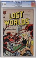 Golden Age (1938-1955):Science Fiction, Lost Worlds #6 White Mountain pedigree (Standard, 1952) CGC VF 8.0Off-white to white pages....