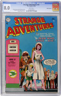 Golden Age (1938-1955):Science Fiction, Strange Adventures #51 White Mountain pedigree (DC, 1954) CGC VF8.0 White pages....