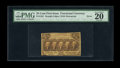 """Fractional Currency:First Issue, Fr. 1281 25¢ First Issue PMG Very Fine 20. The PMG comment """"Gutter Fold"""" is denoted on the back of the holder. This is a ve..."""
