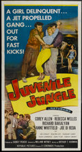 "Movie Posters:Crime, Juvenile Jungle (Republic, 1958). Three Sheet (41"" X 81""). Crime...."