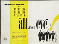"All About Eve (20th Century Fox, 1950). Pressbook (Multiple Pages) (11"" X 14.5""). Academy Award Winner"