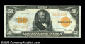 Large Size:Gold Certificates, 1922 $50 Gold Certificate, Fr-1200, Choice-Gem CU. This lovely ...