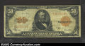 Large Size:Gold Certificates, 1922 $50 Gold Certificate, Fr-1200, VG-Fine. Although well ...