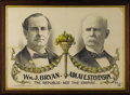 Political:Posters & Broadsides (1896-present), Bryan & Stevenson: Rare Attractive Large 1900-Dated JugatePoster with Attractive Color Accents....