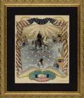 Political:Posters & Broadsides (pre-1896), Abraham Lincoln: Very Rare, Spectacularly Colorful, Large Magnus Print. ...