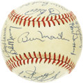 Autographs:Baseballs, 1983 New York Yankees Team Signed Baseball. Billy Martin returnedto New York to skipper to Yankees for the 1983 season, en...