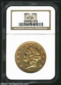 Liberty Double Eagles: , 1854 $20 Small Date XF40 NGC. ...