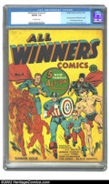 Golden Age (1938-1955):Superhero, All Winners Comics #1 (Timely, 1941) CGC FN/VF 7.0 Off-white pages. A truly historical comic for the collector of Timely, in...