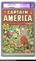 Golden Age (1938-1955):Superhero, Captain America Comics #4 Cosmic Aeroplane pedigree (Timely, 1941) CGC Apparent VF- 7.5 Slight (A) Cream to off-white pages....