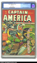 Golden Age (1938-1955):Superhero, Captain America Comics #8 (Timely, 1941) CGC VF- 7.5 Cream to off-white pages. The ultimate patriotic hero steps in to rescu...