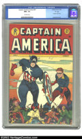 "Golden Age (1938-1955):Superhero, Captain America Comics #57 ""D"" Copy pedigree (Timely, 1946) CGC NM+ 9.6 Off-white pages. If you are looking to acquire the a..."