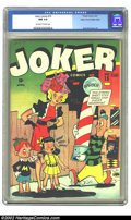 Golden Age (1938-1955):Humor, Joker Comics #15 Mile High pedigree (Timely, 1944) CGC NM 9.4 Off-white to white pages. Beautiful copy of the Timely humor c...