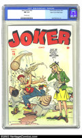 Golden Age (1938-1955):Humor, Joker Comics #18 Mile High pedigree (Timely, 1945) CGC NM 9.4 Off-white pages. On the cover of this humorous issue you have ...
