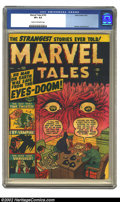Golden Age (1938-1955):Horror, Marvel Tales #100 (Atlas, 1951) CGC VF+ 8.5 Cream to off-whitepages. Timely's classic superhero title had succumbed to the ...