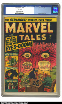 Marvel Tales #100 (Atlas, 1951) CGC VF+ 8.5 Cream to off-white pages. Timely's classic superhero title had succumbed to...
