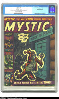 Golden Age (1938-1955):Horror, Mystic #7 White Mountain pedigree (Atlas, 1952) CGC VF/NM 9.0Off-white to white pages. Here is yet another book that we are...