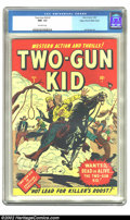Golden Age (1938-1955):Western, Two-Gun Kid #1 Mile High pedigree (Marvel, 1948) CGC NM- 9.2 Off-white pages. One of the very earliest of the Timely western...