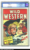 Golden Age (1938-1955):Western, Wild Western #3 Mile High pedigree (Atlas, 1948) CGC NM 9.4 Off-white to white pages. Syd Shores effortlessly moves from the...