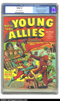 Golden Age (1938-1955):Superhero, Young Allies Comics #1 (Timely, 1941) CGC VF/NM 9.0 Cream to off-white pages. One of the truly great covers from the Golden ...