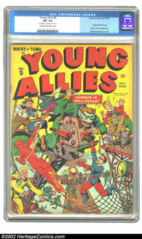 Young Allies Comics #5 (Timely, 1942) CGC VF+ 8.5 Cream to off-white pages. An action-packed Alex Schomburg cover is the...