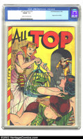 """Golden Age (1938-1955):Adventure, All Top Comics #18 (Fox Features Syndicate, 1949) CGC FN/VF 7.0 Cream to off-white pages. A classic """"babe"""" cover spotlights ..."""