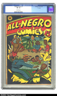 """All-Negro Comics #1 """"D"""" Copy pedigree (All-Negro Comics, 1947) VF- 7.5 Off-white pages. The epitome of esoteri..."""