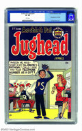 Golden Age (1938-1955):Humor, Archie's Pal Jughead #1 (Archie, 1949) CGC VF 8.0 White pages. After years of supporting his buddy Archie, yet proving funni...