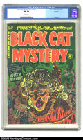 Golden Age (1938-1955):Horror, Black Cat Mystery #39 Spokane pedigree (Harvey, 1952) CGC NM 9.4White pages. When you want a grade that's high... high as t...