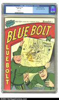 Golden Age (1938-1955):War, Blue Bolt Vol. 3, #6 Mile High pedigree (Novelty Press, 1942) CGCVF+ 8.5 White pages. It would be a few years before L. B. ...