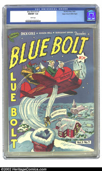 Blue Bolt Vol. 3, #7 Mile High pedigree (Novelty Press, 1942) CGC NM/MT 9.8 White pages. Okay people, here is your chanc...