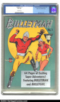 Golden Age (1938-1955):Superhero, Bulletman #1 Mile High pedigree (Fawcett, 1941) CGC VF 8.0 Off-white pages. The Top Ten Reasons for buying this book: 1) Dis...