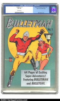 Bulletman #1 Mile High pedigree (Fawcett, 1941) CGC VF 8.0 Off-white pages. The Top Ten Reasons for buying this book: 1)...