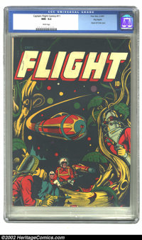 Captain Flight #11 Big Apple pedigree (Four Star, 1947) CGC NM- 9.2 White pages. Overstreet and Gerber agree that this i...