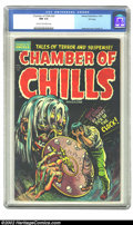 Golden Age (1938-1955):Horror, Chamber of Chills #20 File copy (Harvey, 1953) CGC NM 9.4 Cream tooff-white pages. Pre-Code horror is finally getting its d...