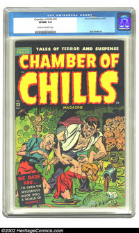 Chamber of Chills #23 (Harvey, 1951) CGC VF/NM 9.0 Cream to off-white pages. This amazing book has all the elements that...
