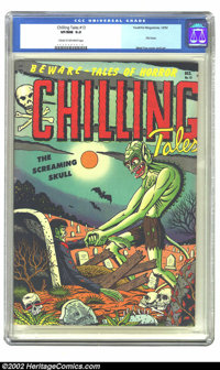 Chilling Tales #13 (#1) (Youthful Magazines, 1952) CGC VF/NM 9.0 Cream to off-white pages. This bleary-eyed ghoul, badly...